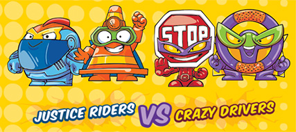 equipos rivales justice riders crazy drivers
