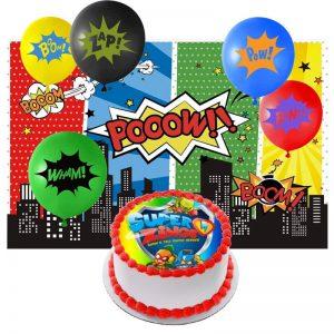 Tu Fiesta de Cumpleaños SuperZings: Decoración, Invitaciones…