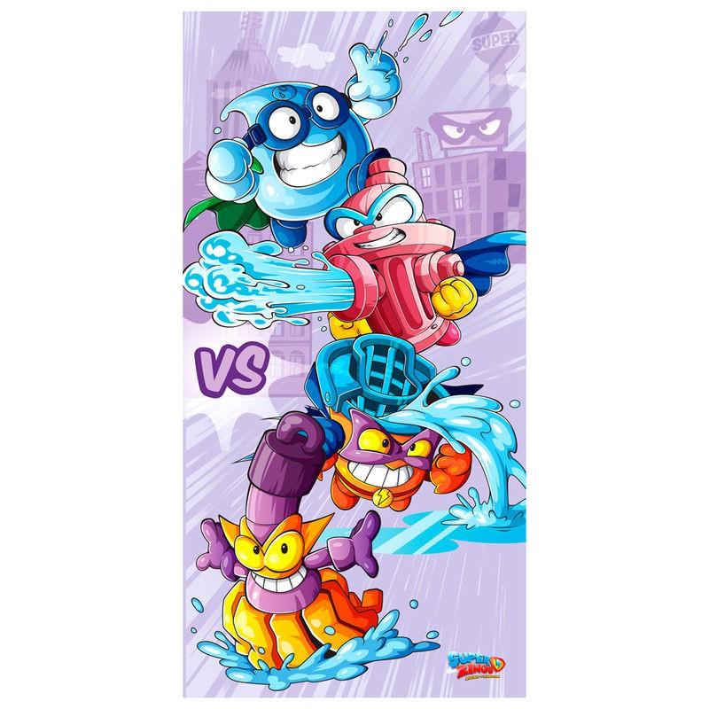 Toalla de baño o playa de SuperZings de los equipos Rogue Patrol vs Garage Gang