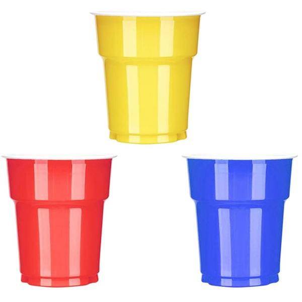 vasos colores desechables