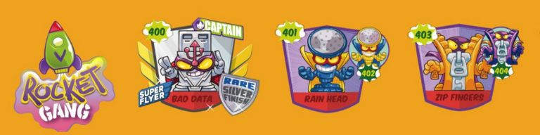 SuperZings serie 5 lista personajes fila 11