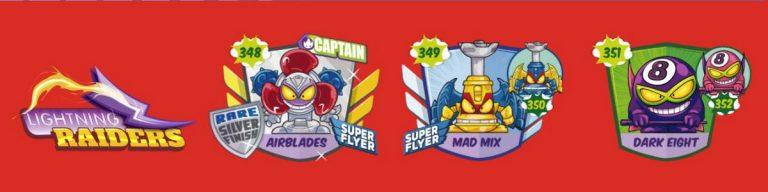SuperZings serie 5 lista personajes fila 3