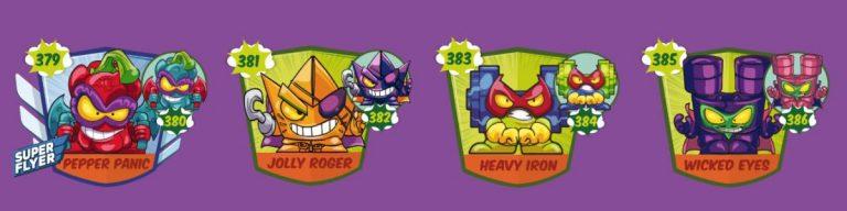 SuperZings serie 5 lista personajes fila 8