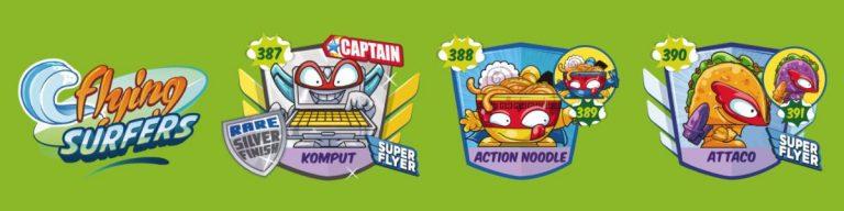 SuperZings serie 5 lista personajes fila 9