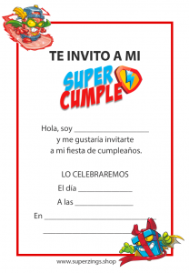 invitacion superzings